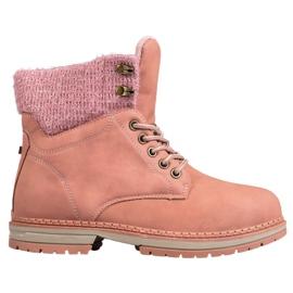 SHELOVET Trapper Con Glitter rosa