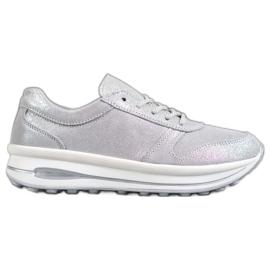 Calzature in pelle glitter VINCEZA grigio