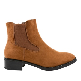 1552 Stivali piatti da donna marroni marrone