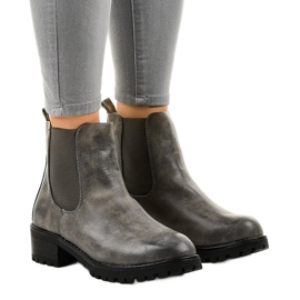 Stivali grigi sul palo con elastico Z105 grigio