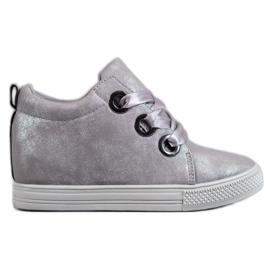 New Tlck Scarpe legate con un nastro grigio