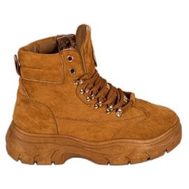 Stivali sulla piattaforma VICES marrone