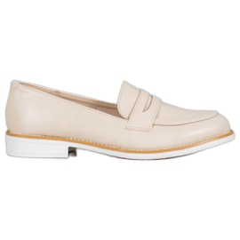 Mocassini beige VICES marrone