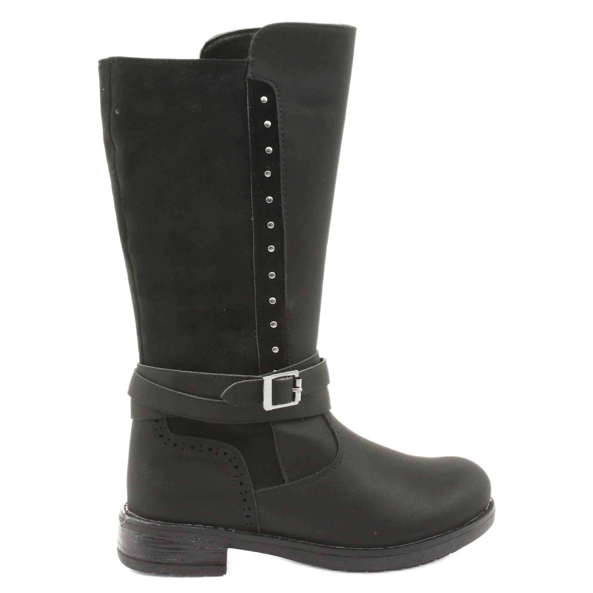 Stivali lunghi American Club GC31 con getti nero grigio