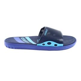 Pantofole da uomo nere per Atletico blu navy