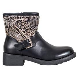 Bestelle Stivali con cristalli nero