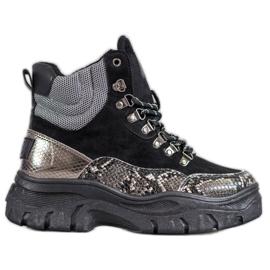 Stivali con lacci VICES nero