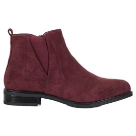 Ideal Shoes Stivali slip-on rosso