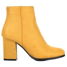 Marquiz Stivali di camoscio giallo