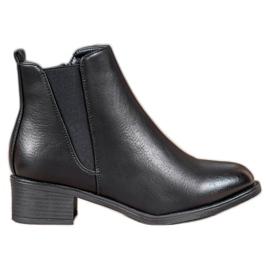 Ideal Shoes Stivali classici con elastico nero