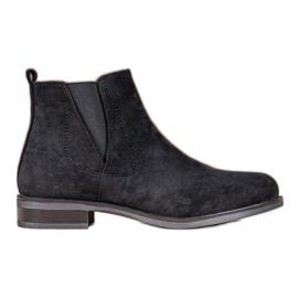 Ideal Shoes Stivali slip-on nero