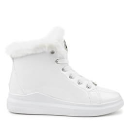 Sneakers bianche termiche verniciate TL135-9 bianco