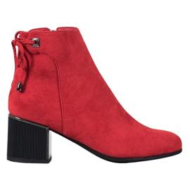 Goodin Stivali di camoscio rosso