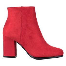 Marquiz Stivali di camoscio rosso