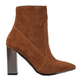 Goodin Stivali di pelle sexy marrone