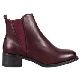 Ideal Shoes Stivali classici con elastico rosso