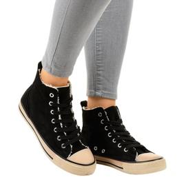Sneakers nere isolate T-040 nero