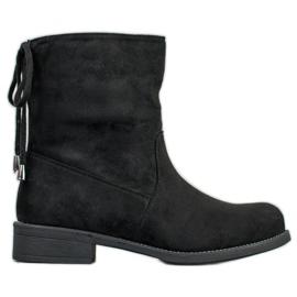 SDS Stivali di pelle scamosciata nero