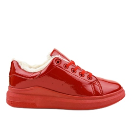 Sneakers rosse isolate TL140-3 rosso