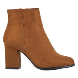 Marquiz Stivali in pelle scamosciata cammello marrone
