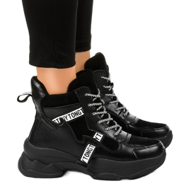 Sneaker isolate nere da donna F803-7 nero