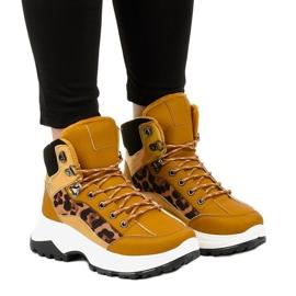 Sneakers isolate da donna marroni F-19208-3 marrone