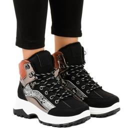 Sneakers isolate da donna nere F-19208-1 nero
