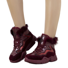 Sneakers bordeaux isolate LS-2062 rosso
