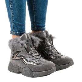 Sneakers grigie isolate LS-2062 grigio