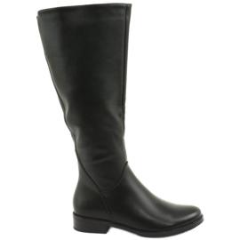 Stivali di pelle Daszyński SA62 nero