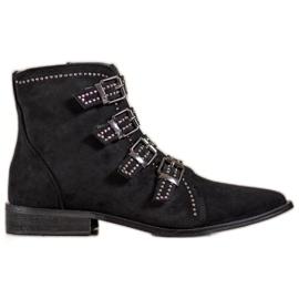 Bestelle Stivali di camoscio con fibbie nero