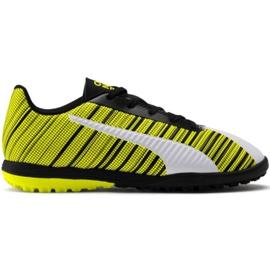 Scarpe da calcio Puma One 5.4 Tt Jr 105662 03 bianco, nero, giallo giallo