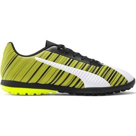 Scarpe da calcio Puma One 5.4 Tt M 105653 03 bianco, nero, giallo giallo