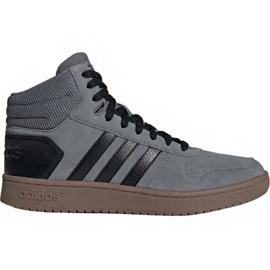 Scarpe Adidas Hoops 2.0 Mid M EE7367 grigio
