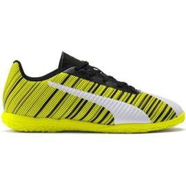 Scarpe da calcio Puma One 5.4 It Jr 105664 04 bianco, nero, giallo giallo
