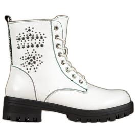 Goodin Stivali bianchi bianco
