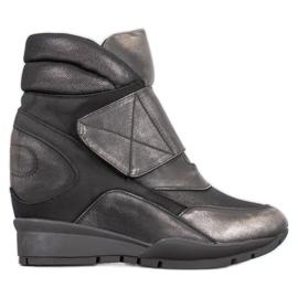 Sergio Leone Sneaker con velcro grigio