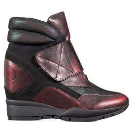 Sergio Leone Sneaker con velcro rosso