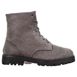 Sweet Shoes Stivaletti in pelle scamosciata grigi grigio