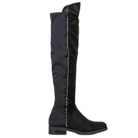 Seastar Stivali alti con zirconi nero