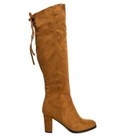 Stivali in pelle scamosciata VINCEZA marrone