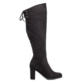 Stivali in pelle scamosciata VINCEZA nero