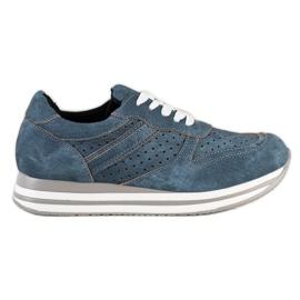 Kylie Scarpe sportive con pelle ecologica blu