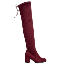 Ideal Shoes Coscia di camoscio rosso