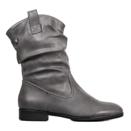 Sergio Leone Stivali da cowboy grigi grigio