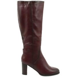 Stivali in pelle ecologica VINCEZA rosso