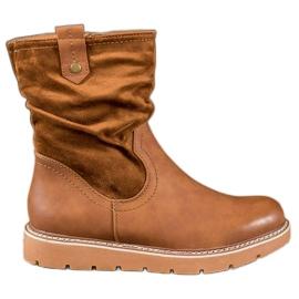 Ideal Shoes Lavoratori della piattaforma marrone