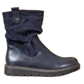 Ideal Shoes Lavoratori della piattaforma blu