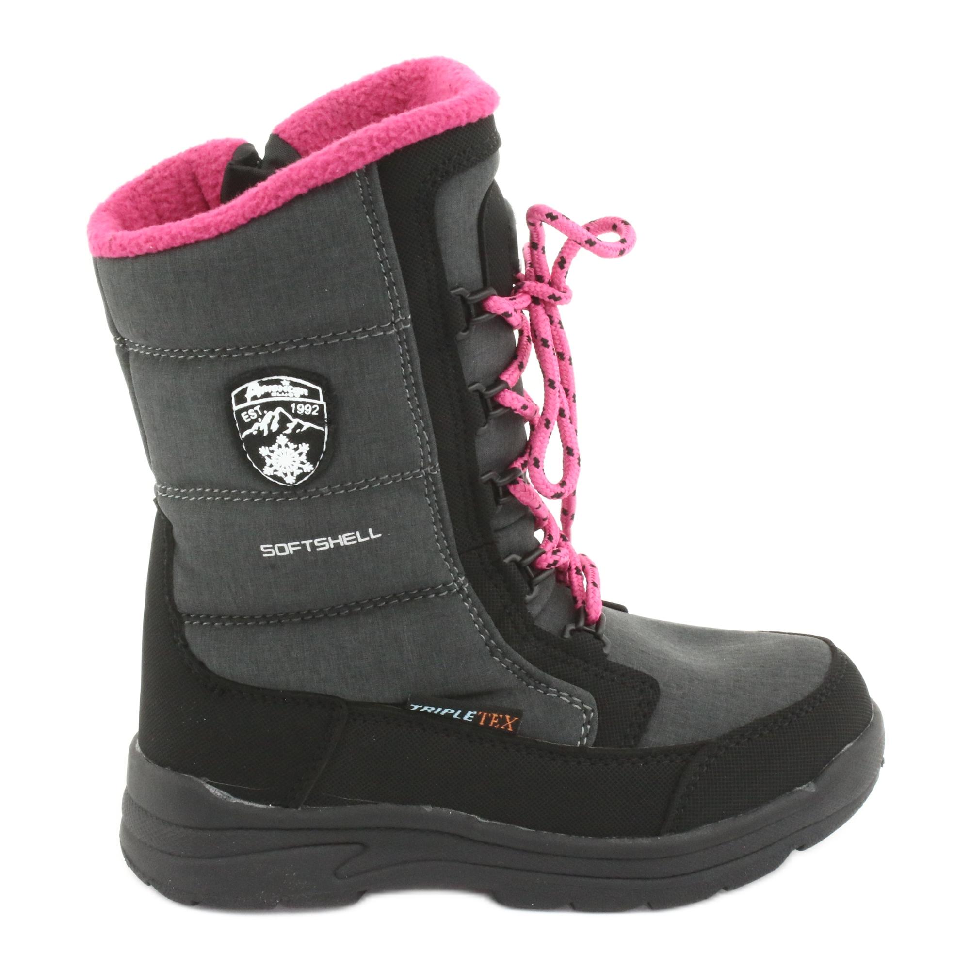 Stivali da neve con membrana American club SN13 grigia nero rosa grigio