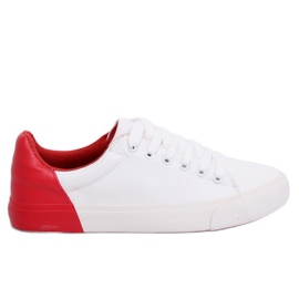 Sneakers da donna bianche e rosse A88-29 W-RED II Tipo